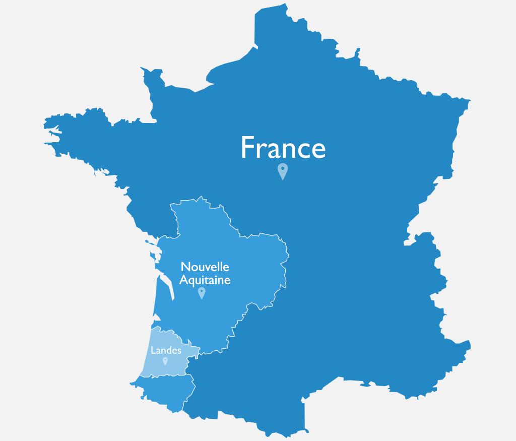 Les Landes en France et en Nouvelle Aquitaine